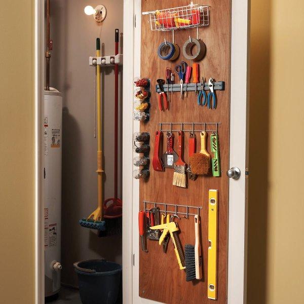 Back of Door Storage Closet Ideas