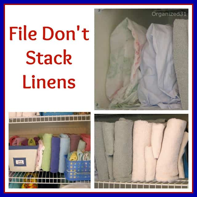 Organized 31 - File Your Linens