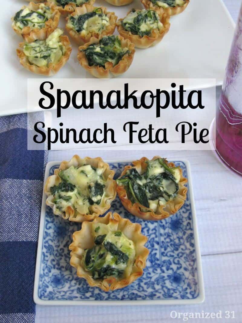 Spanakopita - Organized 31 #FallforGreek #sponsored