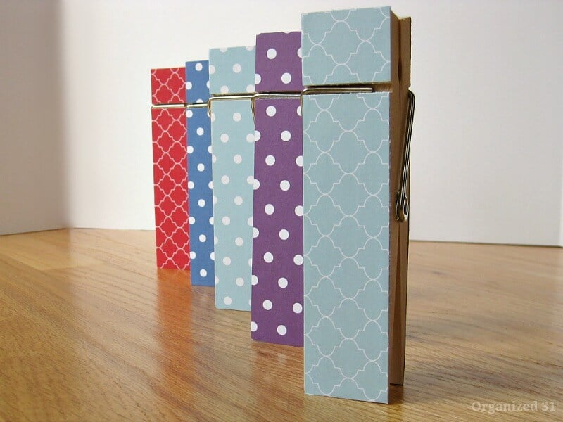 Giant Clothespin Gift Idea - Organized 31