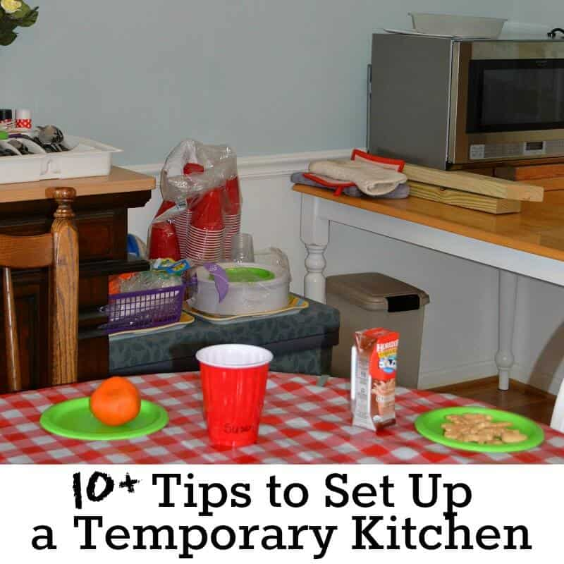 10+ Tips to Set Up a Temporary Kitchen (and enjoy it ...