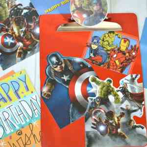 DIY Avengers Card Clipboard - Make an easy craft with recycled birthday cards #SendSmiles #Ad