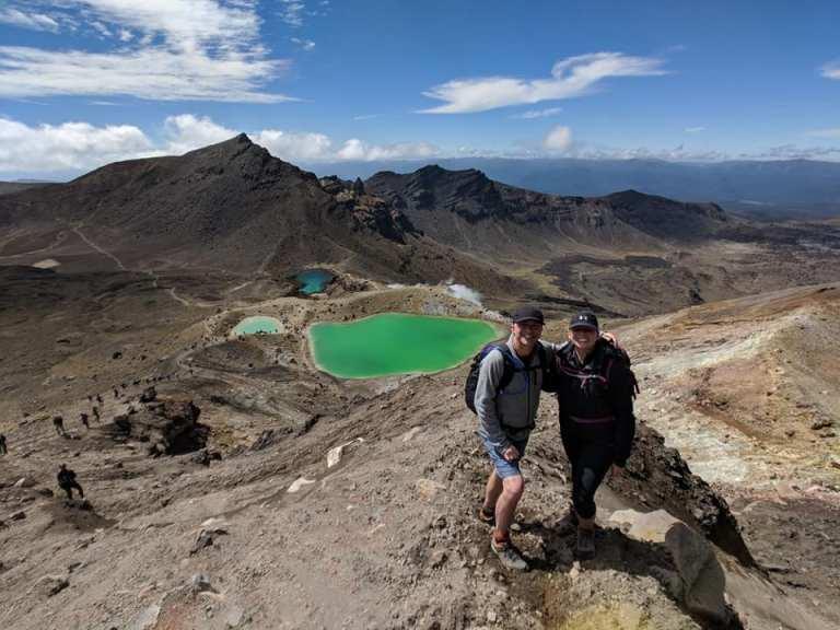 Hiking Tongariro Alpine Crossing North Island New Zealand