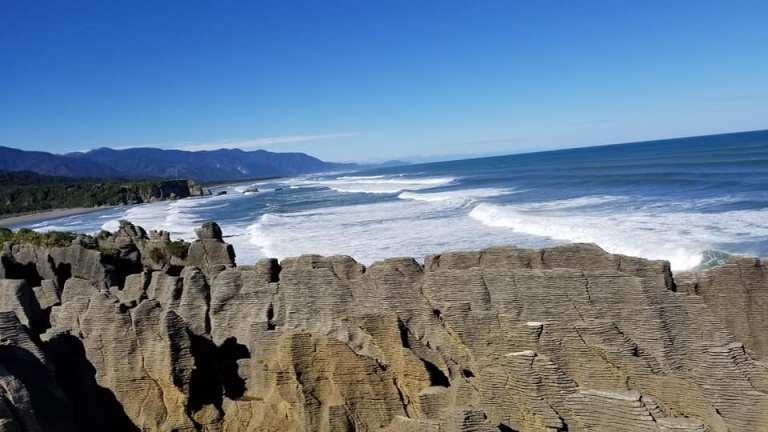 Pancake Rocks in South Island New Zealand