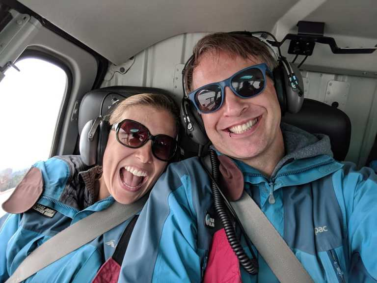 Loving the helicopter ride to Franz Josef Glacier