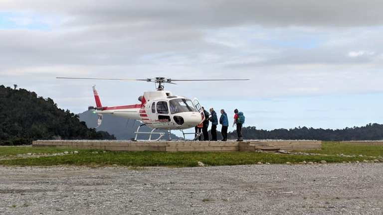 Boarding our helicopter for our Franz Josef Glacier helihike
