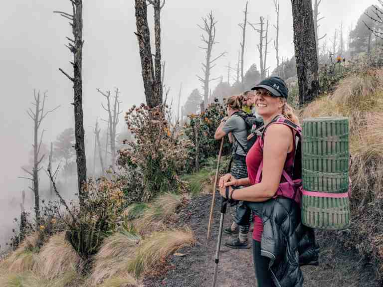 Camping on Acatenango Volcano
