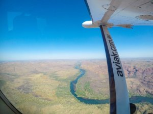 Cattle stations as seen from the Bungle Bungle Scenic Flight