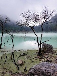 Kawah Putih Volcano Crater Lake