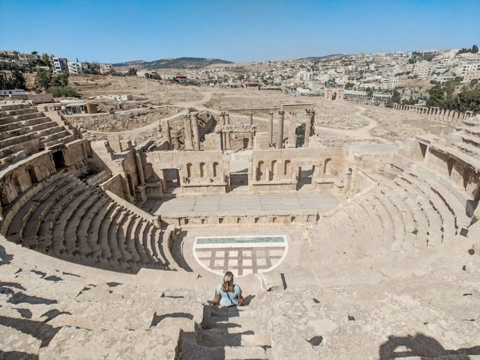 Jerash Ancient Roman Ruins Jordan Amphitheater