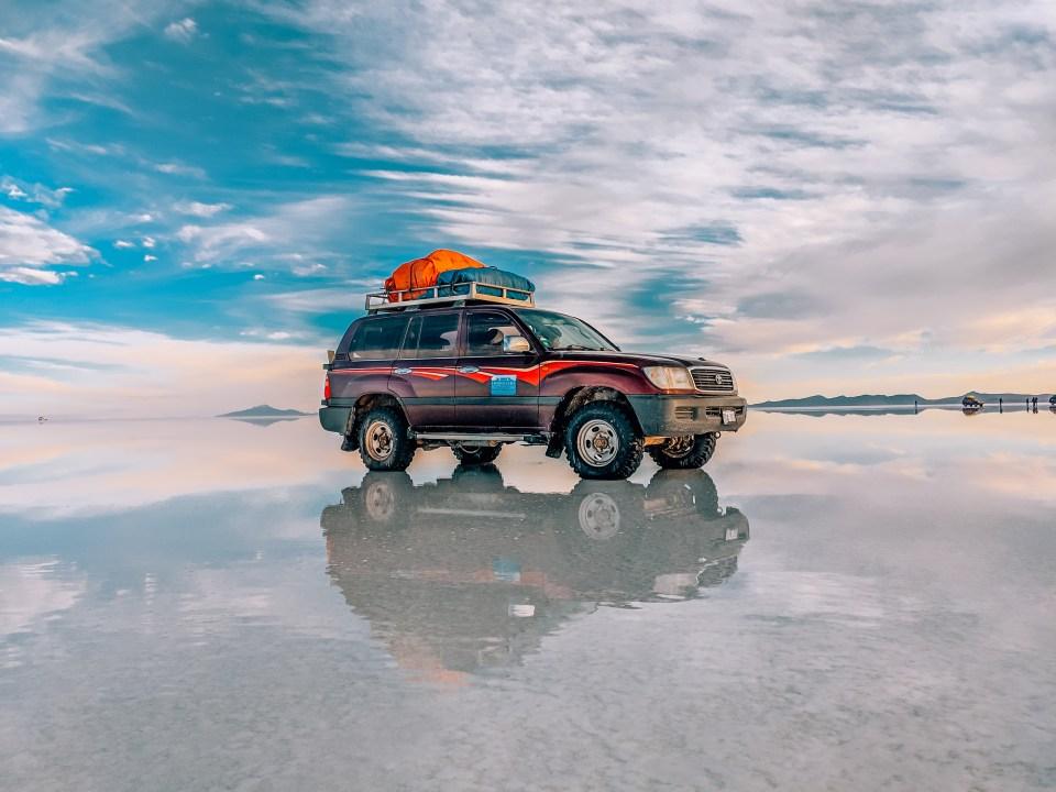 Cordillera Traveller vehicle for touring the Salar de Uyuni