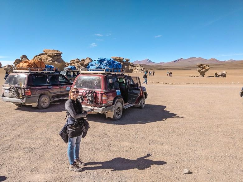 Jeep transportation in Salar de Uyuni