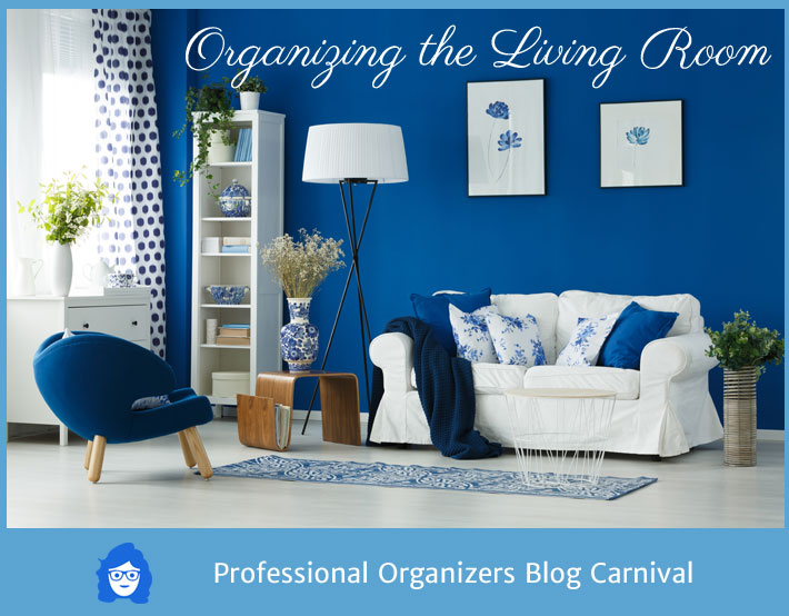 organizing a living room arrange furniture with tv the professional organizers blog carnival