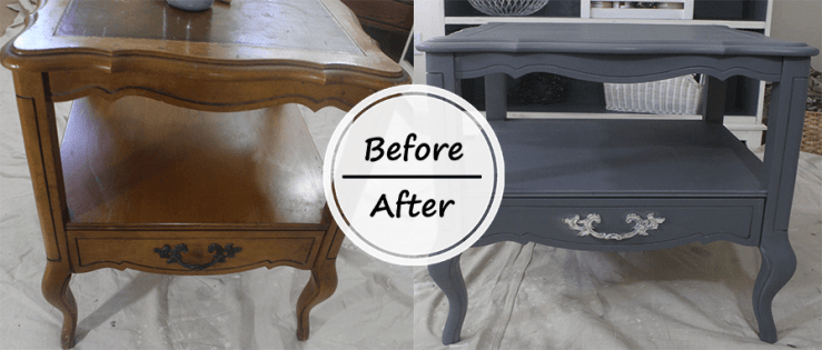 Before and After Chalk Paint Nightstand