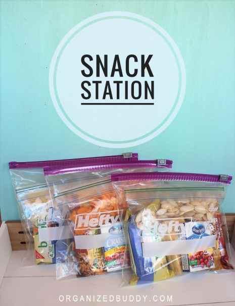 organized snacks