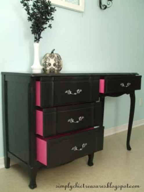 black painted furniture