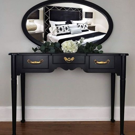 black painted furntiure