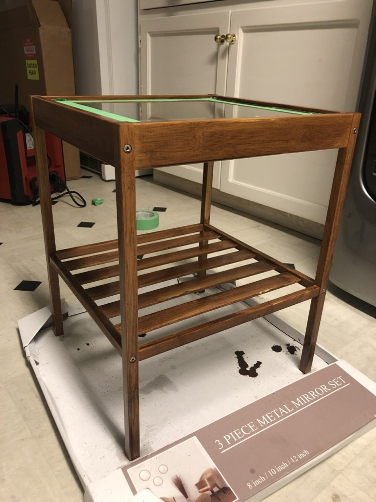 IKEA side table hack drying