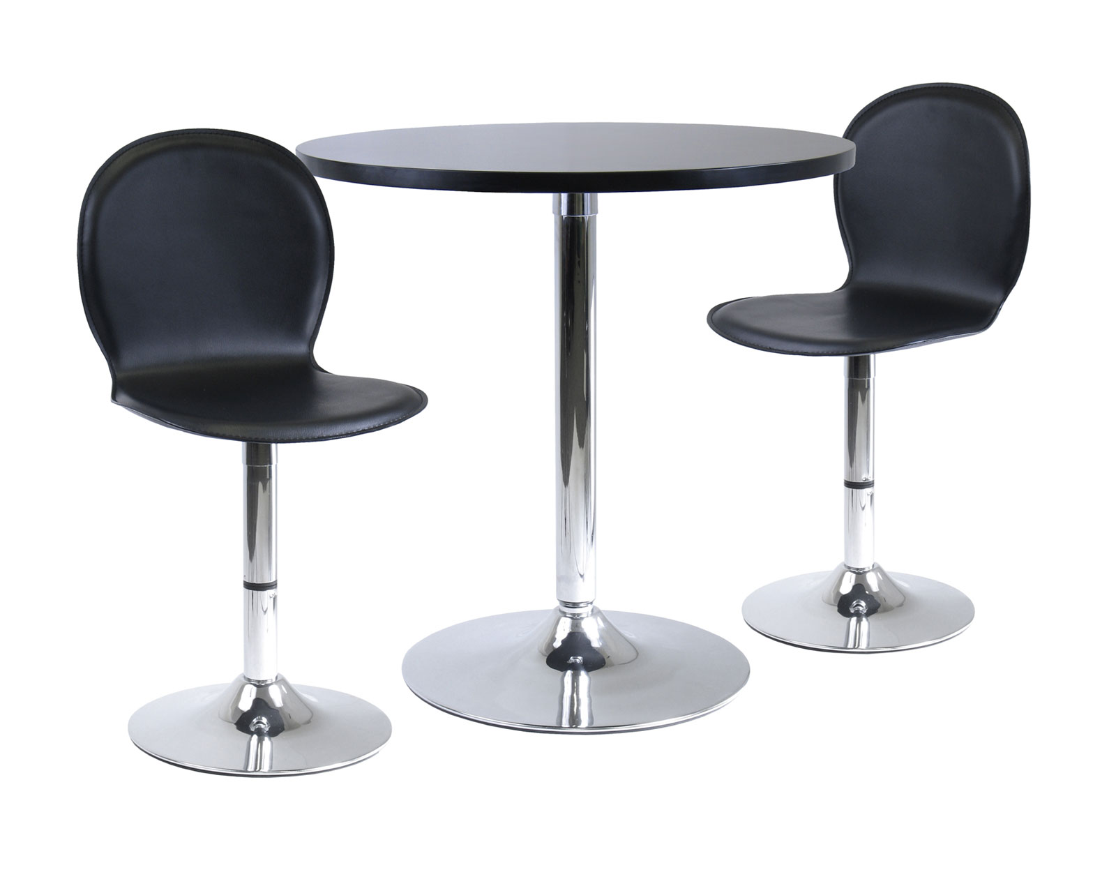 3 Piece Dining Table Set In Bar Table Sets