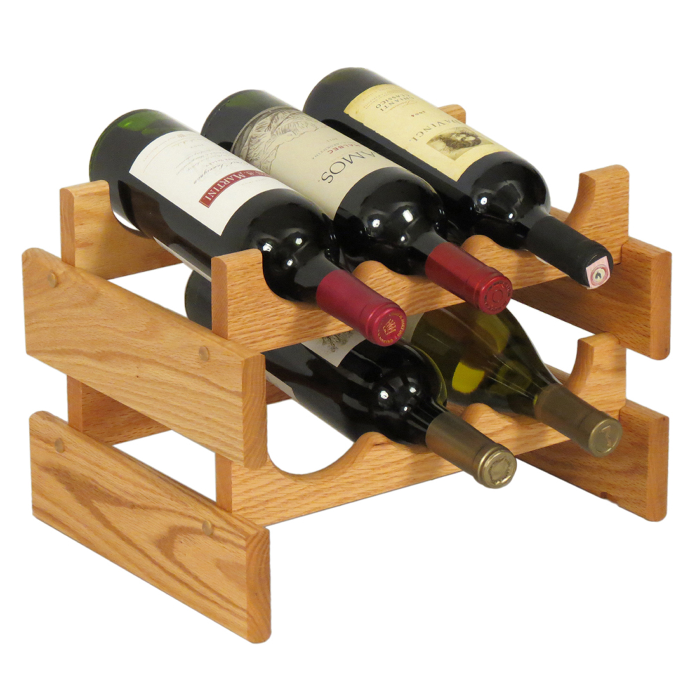 6 Bottle Wooden Wine Rack Wine Rack - 6 Bottle In Wine Racks