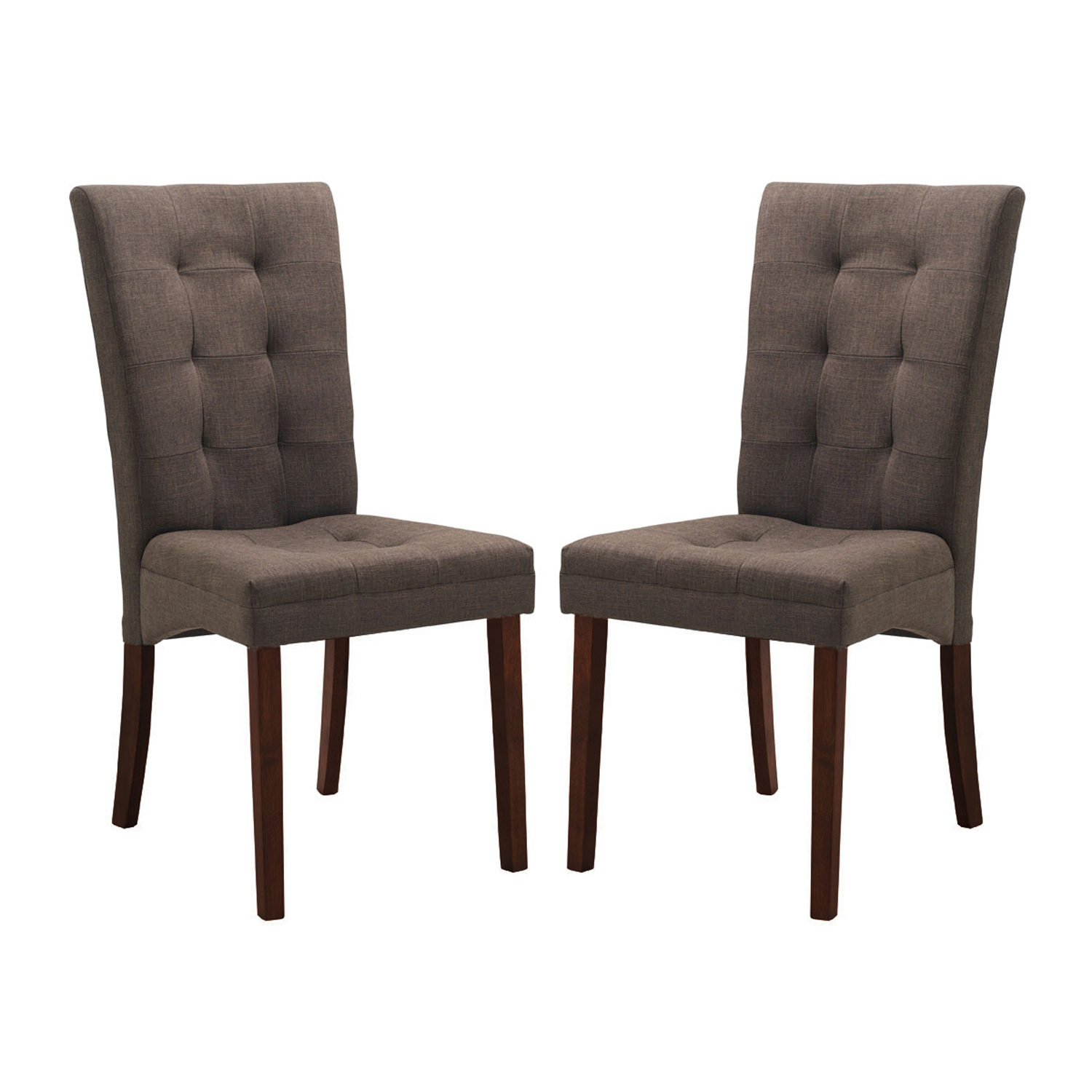 Dining Chair Fabric Anne Brown Fabric Dining Chairs Set Of 2 By Wholesale
