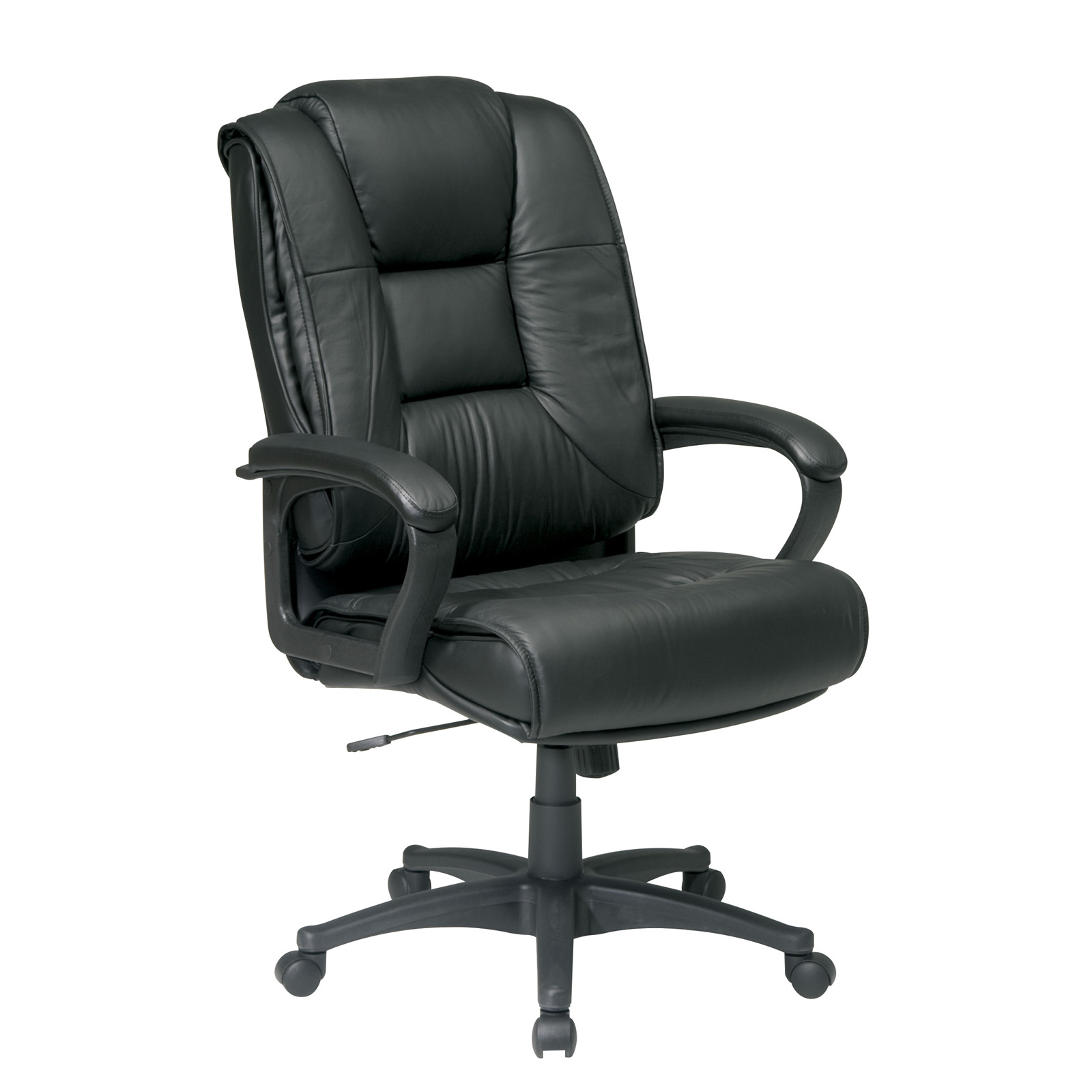 Work Chair Deluxe High Back Glove Soft Leather Chair By Office Star