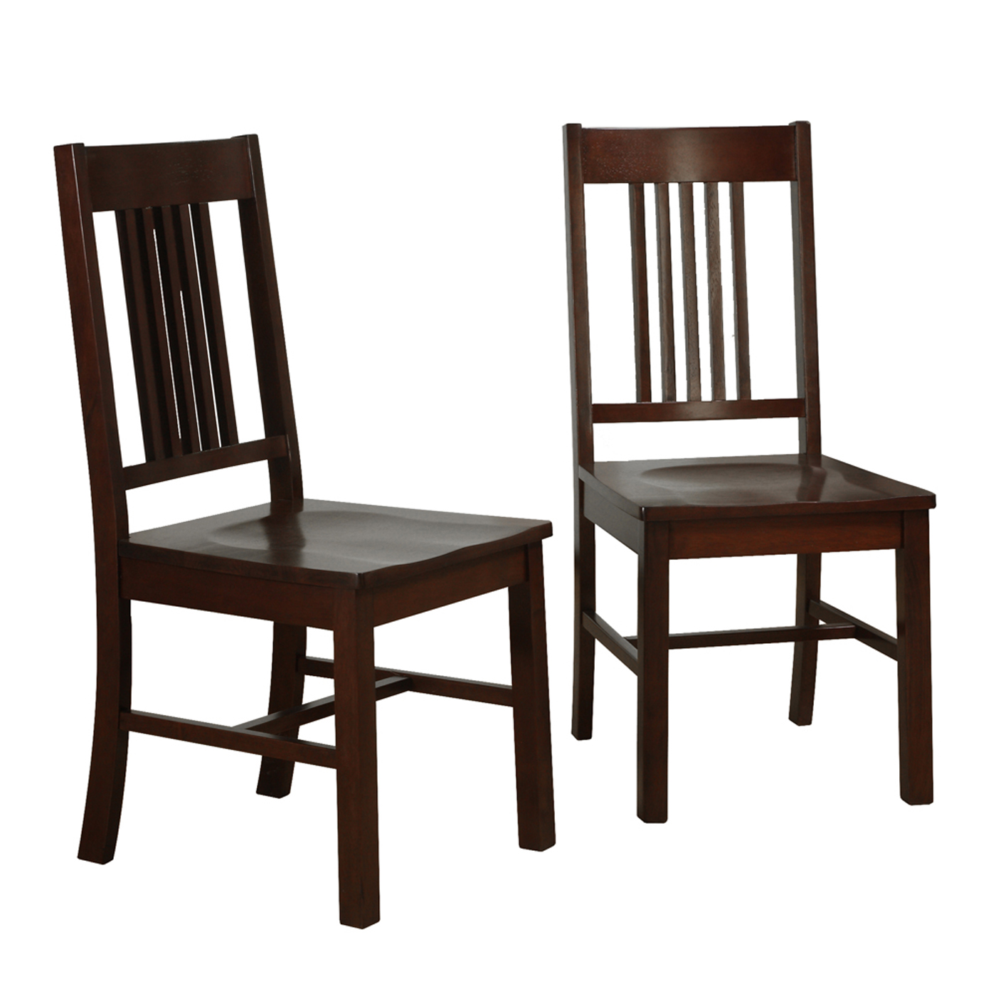 Wood Dining Chair Wood Dining Chairs Cappuccino Set Of 2 In Dining Chairs
