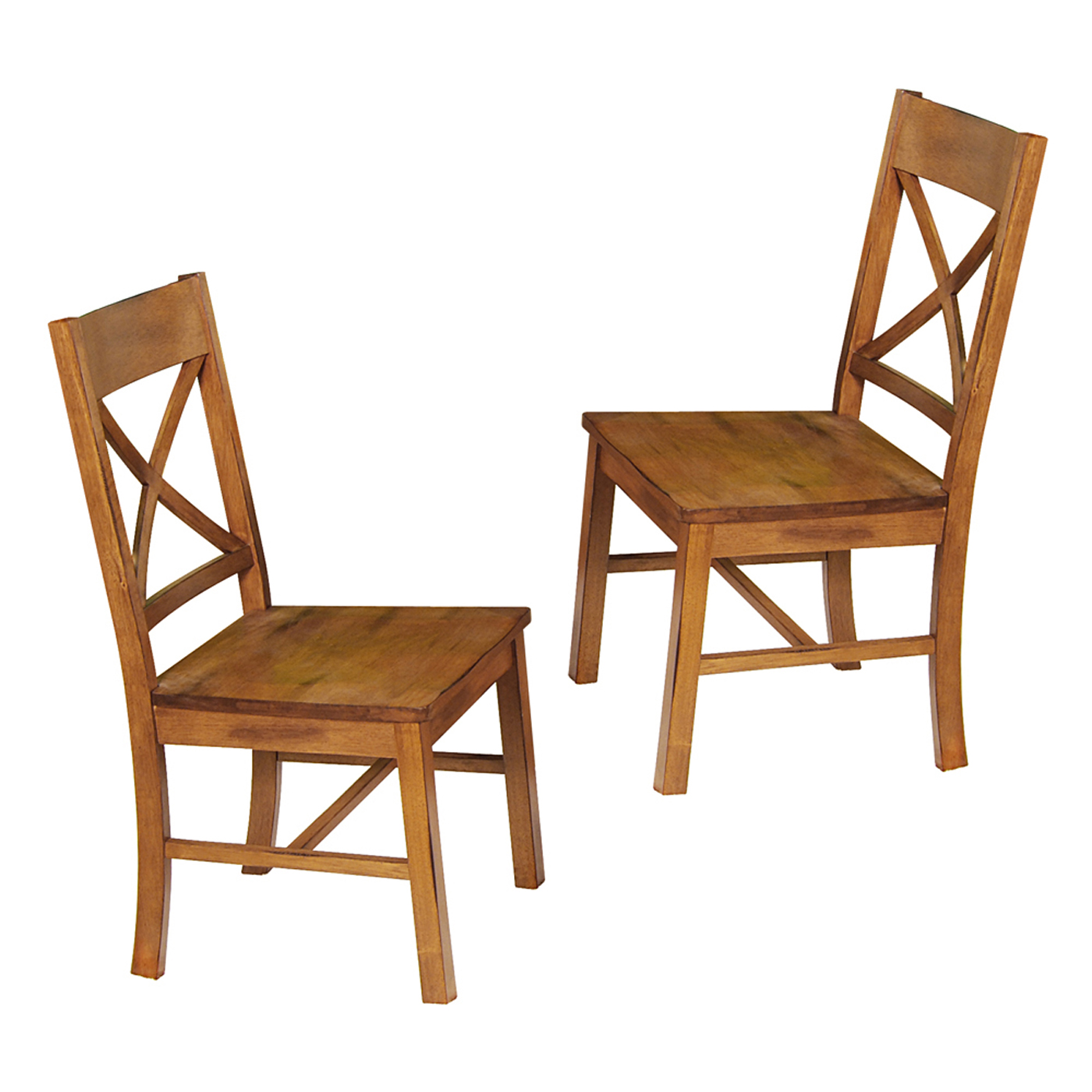 Wood Dining Chair Wood Dining Chairs Antique Brown Set Of 2 In Dining Chairs