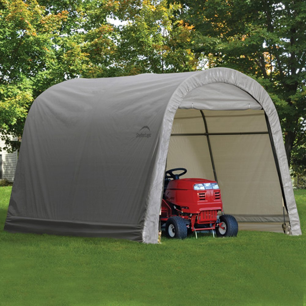 Shelterlogic Outdoor Storage Shed  Round Top In Storage Sheds