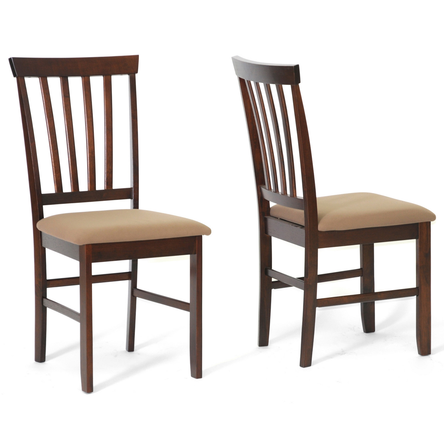 Wood Dining Chair Tiffany Brown Wood Modern Dining Chairs Set Of 2 By