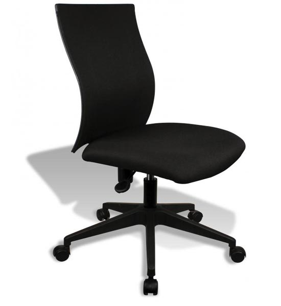 Simple Ergo Curve Office Chair  No Armrests in Armless