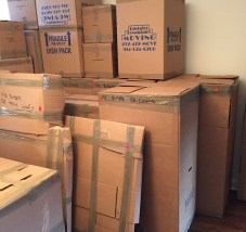 moving boxes stacked up