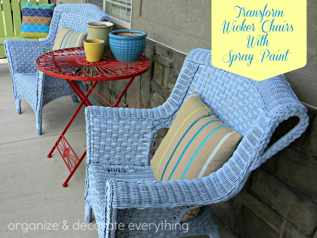 Wicker Adirondack Chair Transform Wicker Chairs With Spray Paint Organize And