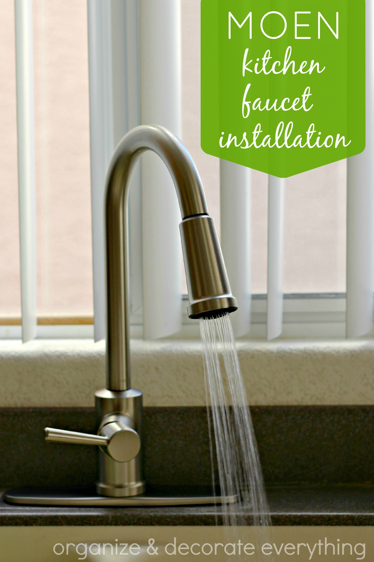 Moen Kitchen Faucet Installation  Organize and Decorate