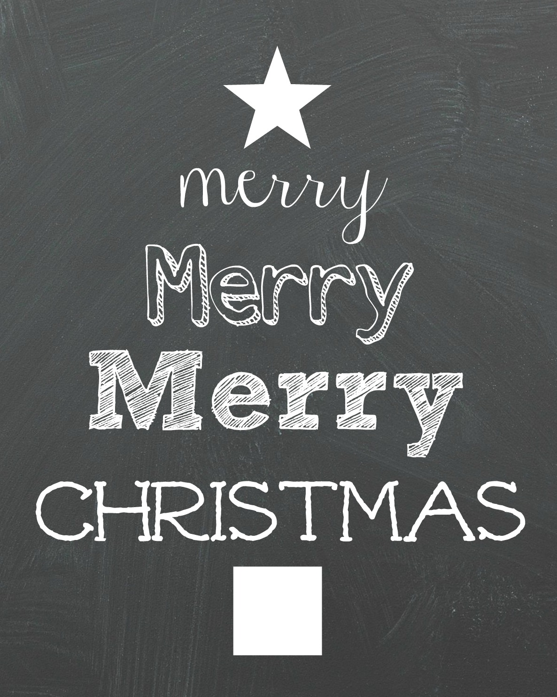 Swirly Christmas Tree Chalkboard Printable