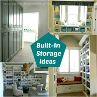 Built In Storage Ideas - Organize and Decorate Everything
