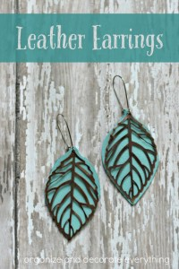Metal and Leather Earrings - Organize and Decorate Everything