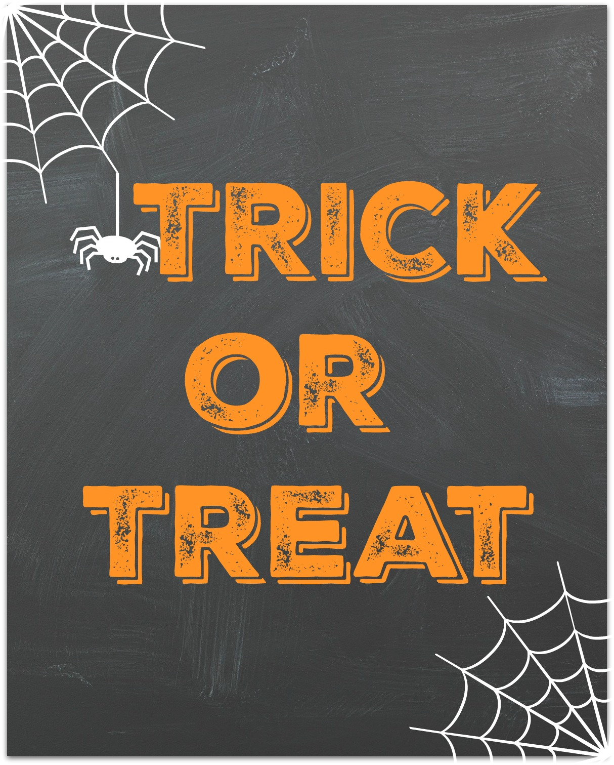 Trick Or Treat Chalkboard Printable