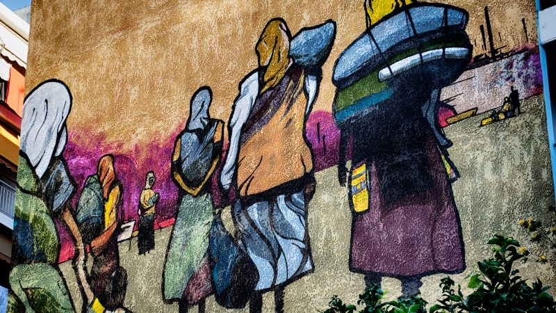 Refugees Street Art, 2013 © VangelisB | Flickr