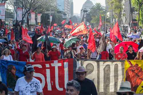SITUAM workers march in Mexico City, 2019 | Image courtesy Patrick Cuninghame