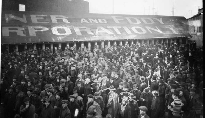 Seattle General Strike participants leaving the shipyard, 1919 | Wikimedia Commons