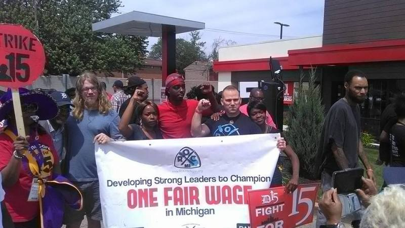 ROC organizers at at One Fair Wage campaign event