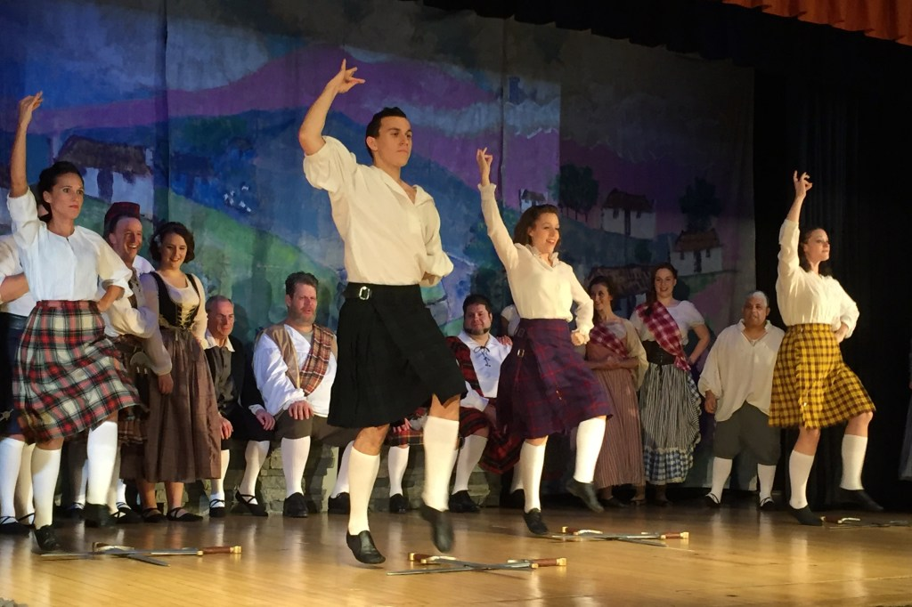 """An action shot taken on an iPhone: the sword dance from """"Brigadoon"""""""
