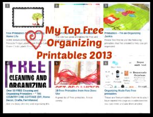 Top Free Organizing Printables