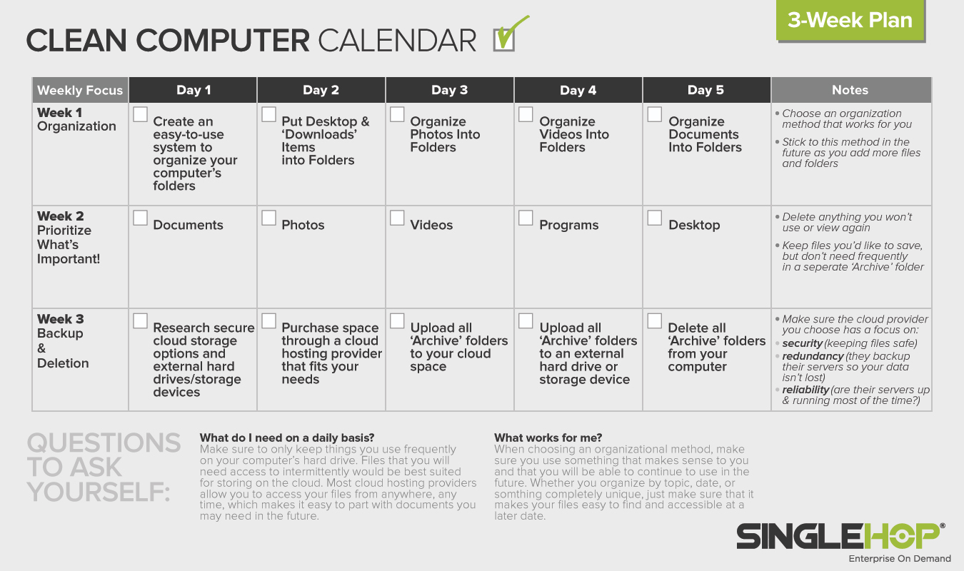 Clean Your Computer Month: A 3-Week Plan to Organize Your Computer
