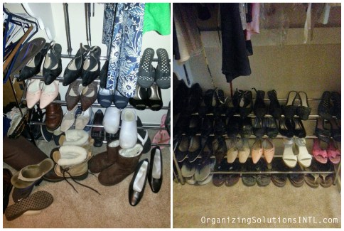 Kansas City Closet Organize - Organized Shoe Rack Before and After
