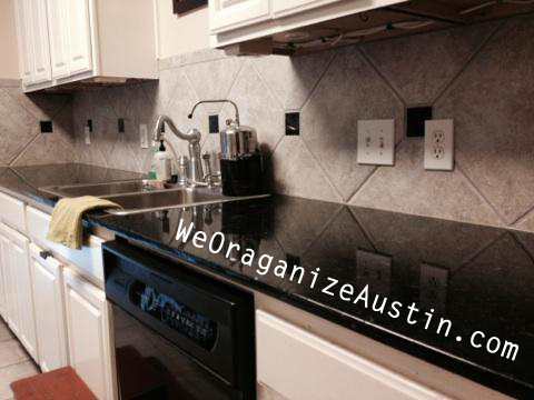 Organizing an Austin Kitchen - Clean and Clutter Free Counters