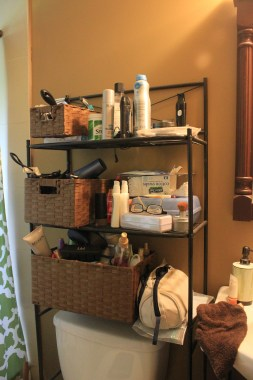 Organizing For Every Room!- cluttered bathroom storage area