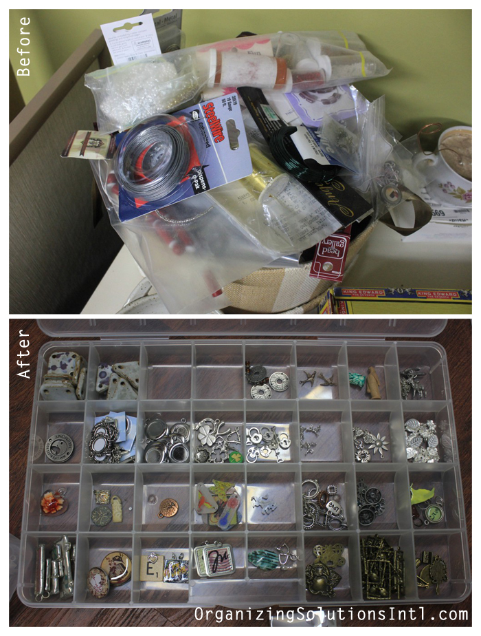 A-Craft-Room-Rediscovered-Part- organized jewelry making supplies before and after