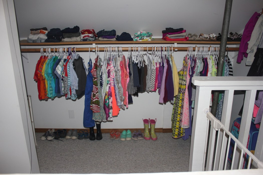 A Closet For Three - organized straight on view